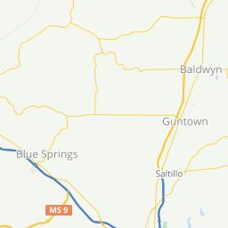 Tupelo club Tuesday ride · Ride with GPS